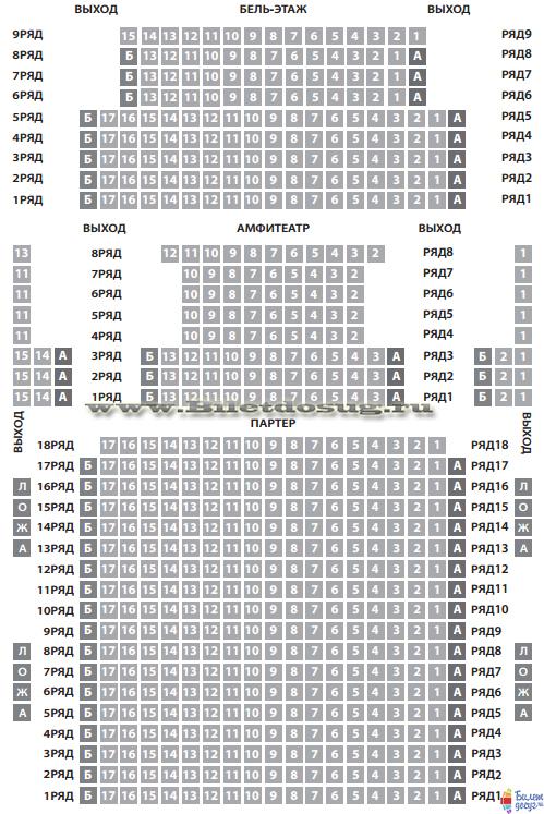 Схема театр на Малой Бронной