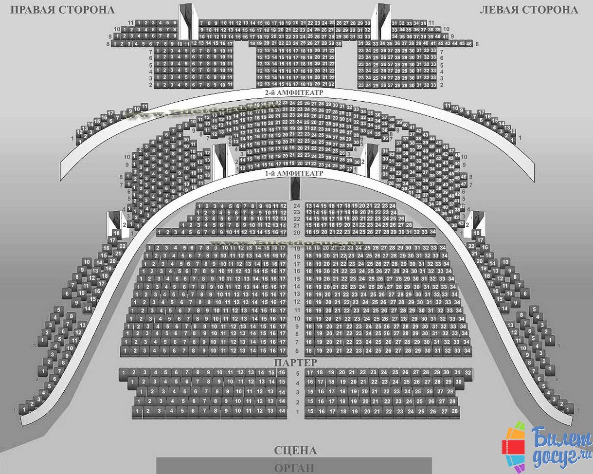Схема Московская консерватория имени Чайковского