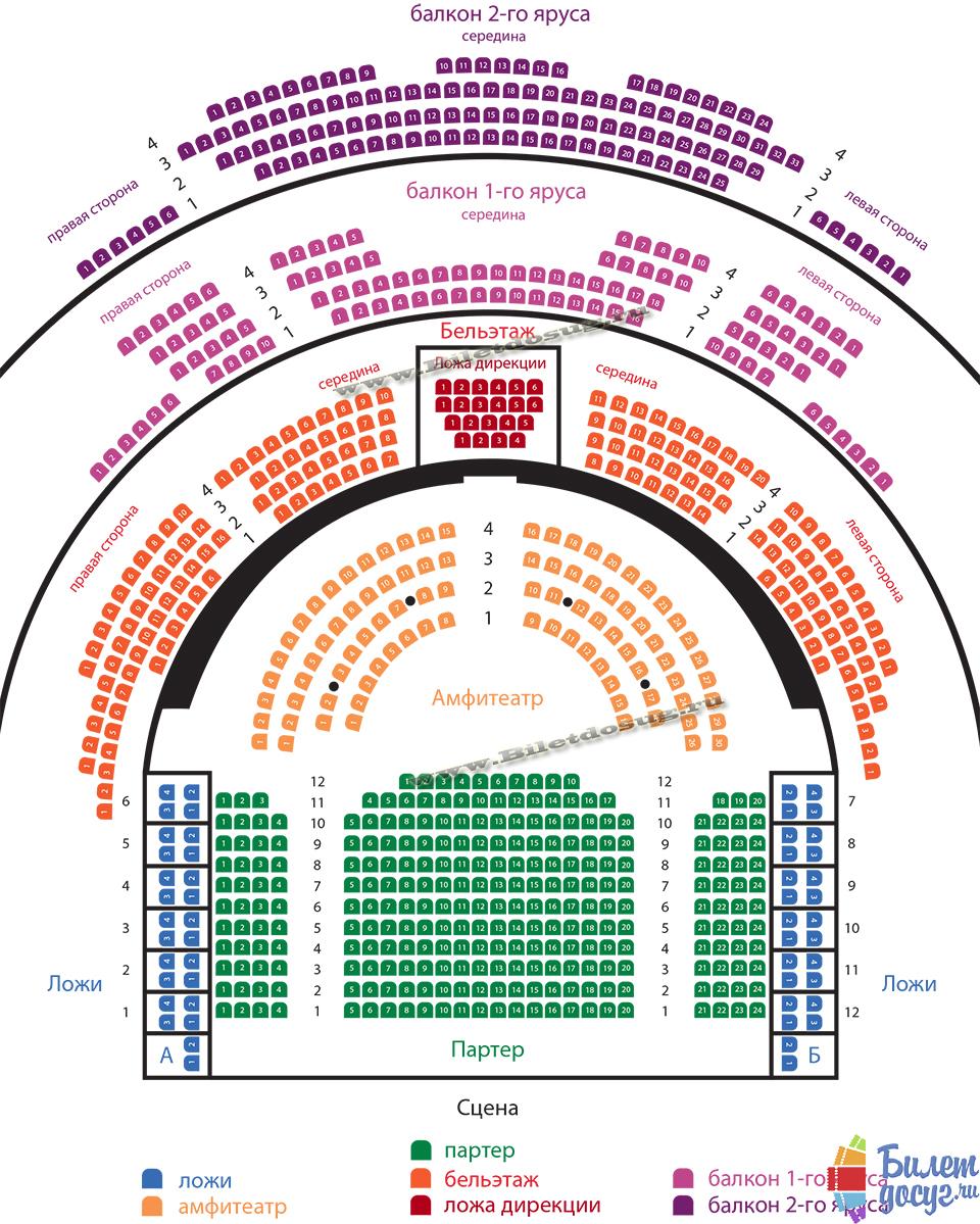 Схема театр Маяковского