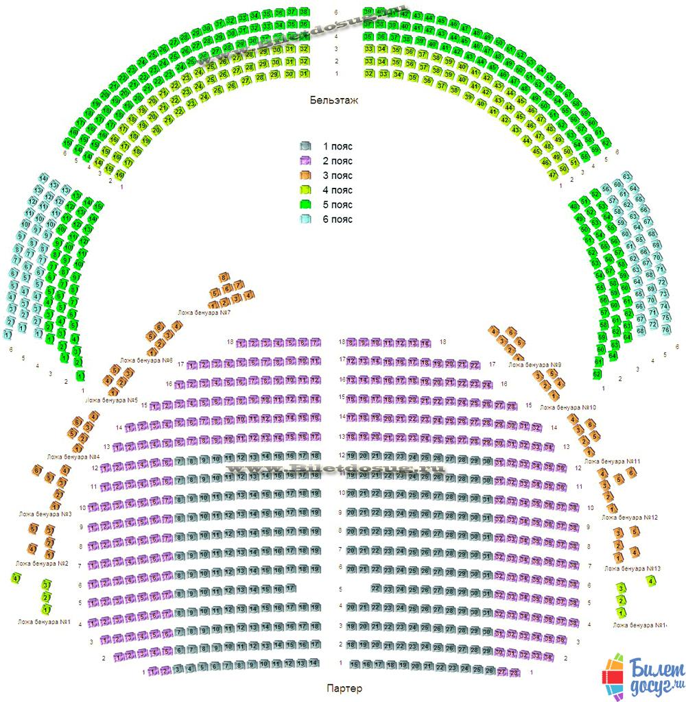 Схема Музыкальный театр Станиславского и Немировича-Данченко