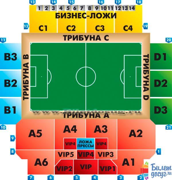 Схема стадион Арена Химки