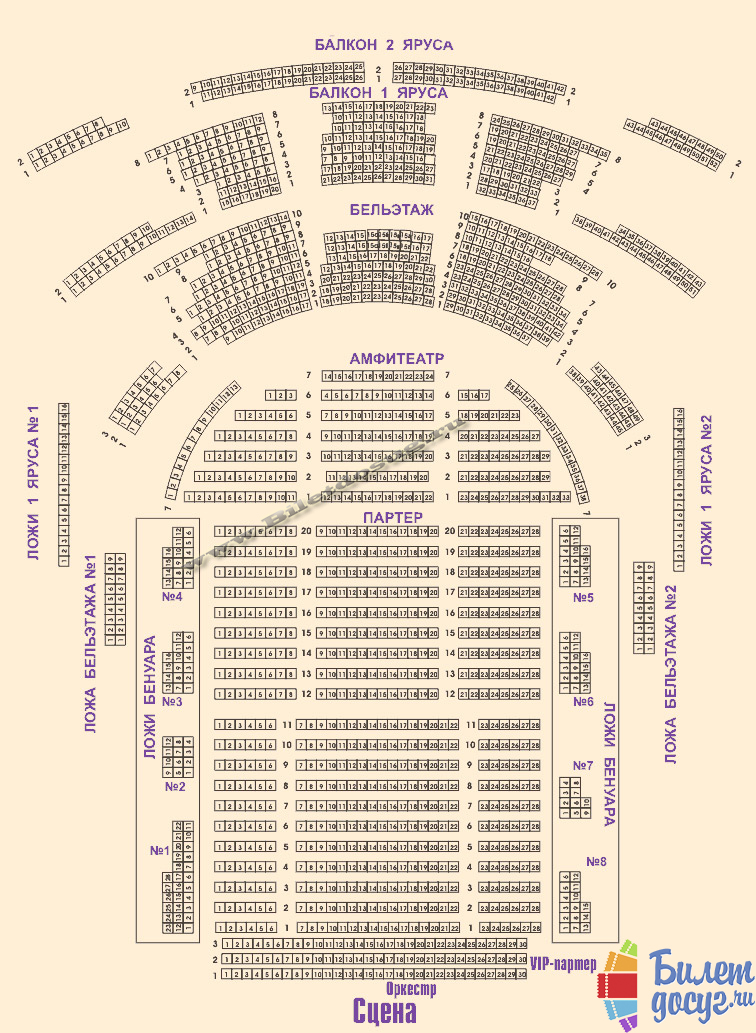 Схема театр Оперетты
