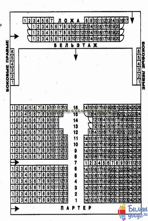Схема театр на Таганке
