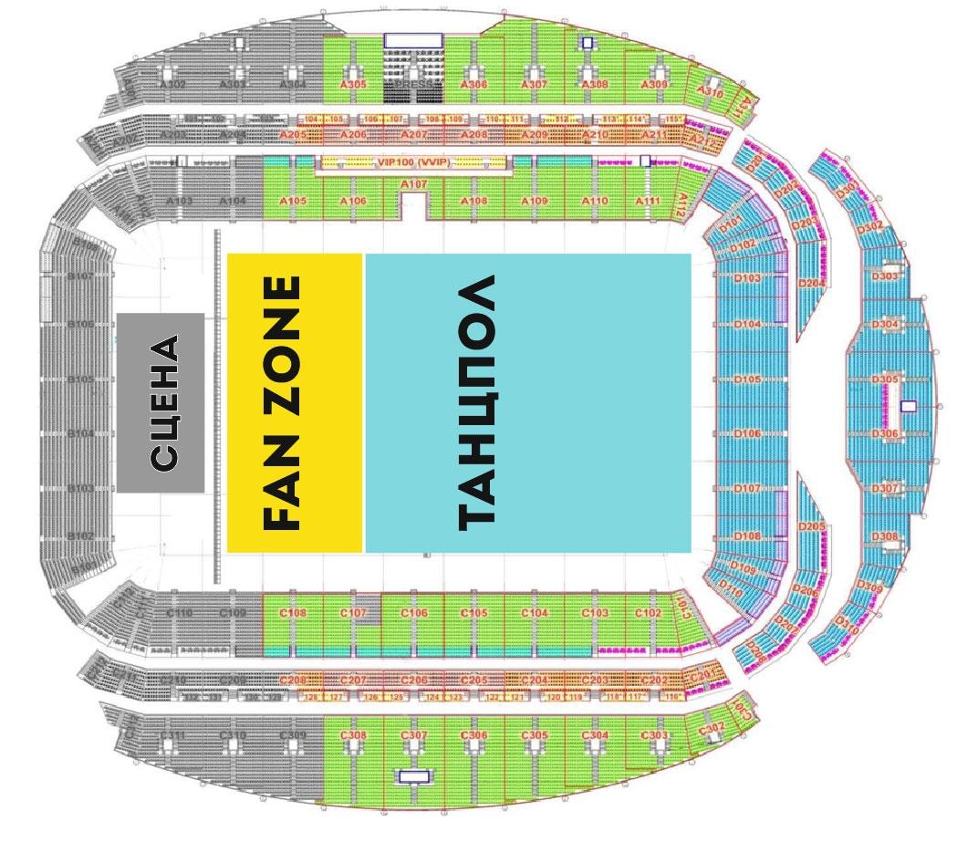 Схема ВТБ Арена (Стадион Динамо)