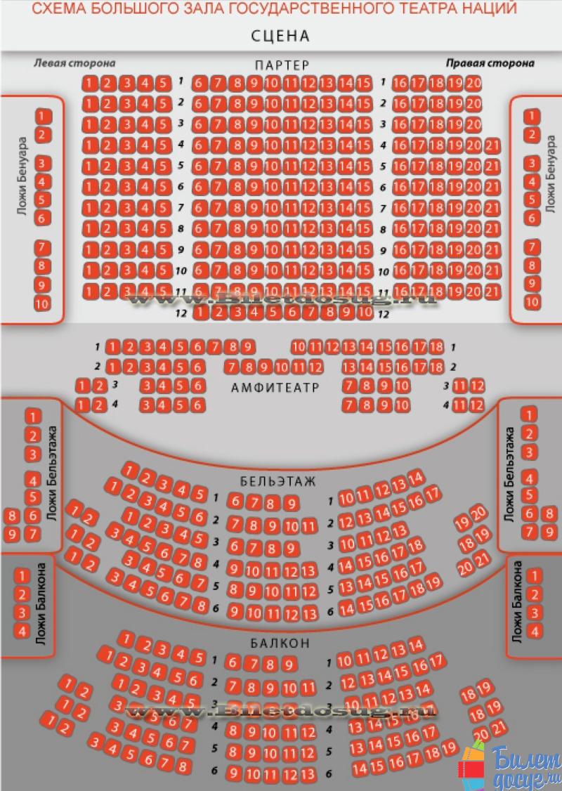 Схема театр Наций