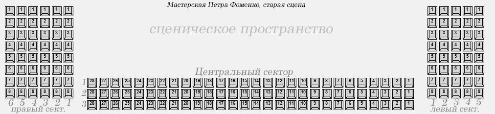 Схема театр Мастерская Петра Фоменко