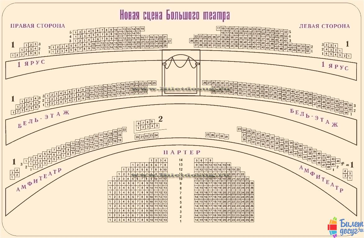 Схема Большой театр